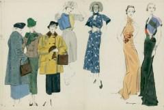 Women in Array of Schiaparelli Ensembles da/from www.corbis.com