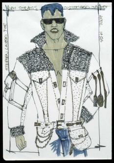 Sketch on paper, Stephen Linard, Great Britain, 1986. Museum no. AAD1997234 Victoria and Albert Museum, LondonStephen Linard