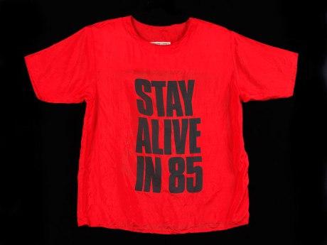 stay alive in 85 by Katherine Hamnett