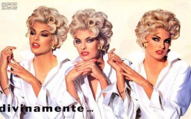 V&A STILISTI - CAMCIA FERRE' (VOGUE ITALIA,1991,IRVING PENN) - più femminile