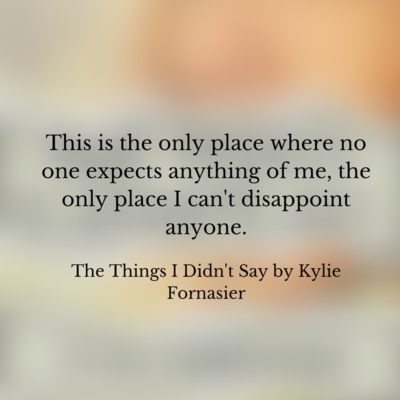 Book Review: The Things I Didn't Say by Kylie Fornasier