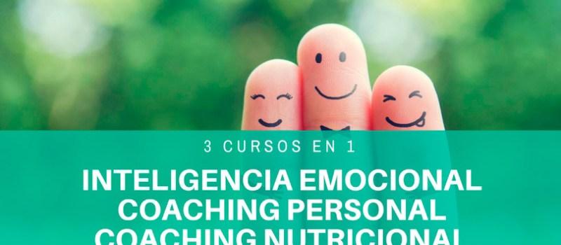 3 cursos online al precio de 1: Inteligencia Emocional, Autoestima y Nutrición