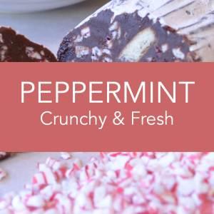 Angels Food Chocolate - Peppermint Crunchy & Fresh Chocolate Salami