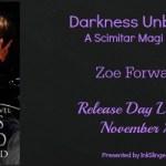 Release Day Blitz: Darkness Unbound (Scimitar Magi #3) by Zoe Forward