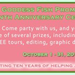 Interview: Goddess Fish Promotions 10th Anniversary ~ #Giveaway