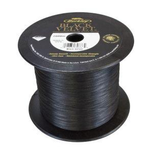 10m 0,08mm 10,1kg Berkley Black Velvet – Schwarz Geflochtene Schnur