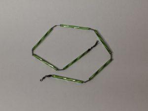 Trout-Flash HELL GRÜN Reflex-Glas-Feder-Kette