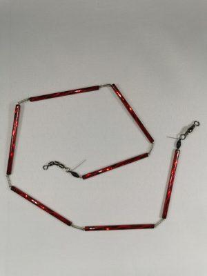 Trout-Flash DUNKEL ROT Reflex-Glas-Feder-Kette