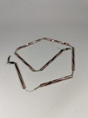 Trout-Flash AMETHYST HELL Reflex-Glas-Feder-Kette