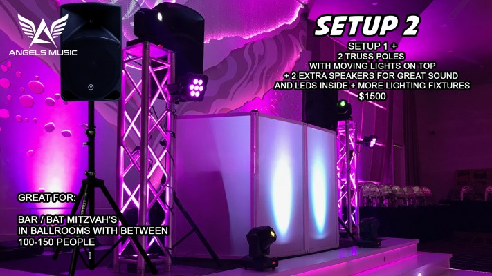 Angels Music wedding DJ package 2, DJ deal setup 2