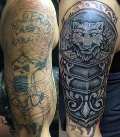 #coverup #lion #armor #tattoo #dovme #dovmesanati #dövme #tattooturkiye  #tattoo…