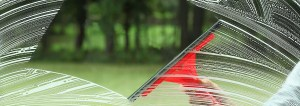 Perfect glass cleaning housework with special squeegee