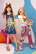 Desigual dress and pants for kids. Spring-Summer 2015.
