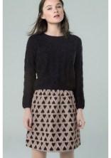 Compañía Fantástica HANTS skirt, $49, with small heart pattern. Fall-Winter 2015.