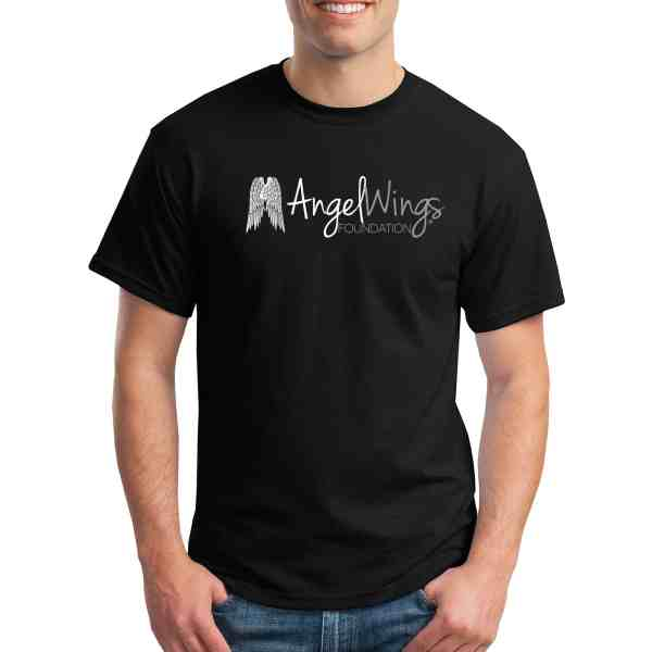 angel wings foundation crew neck t-shirt