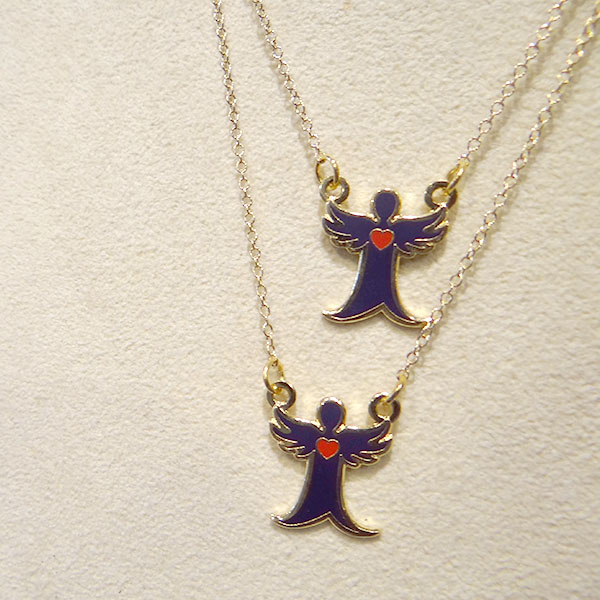 Angel with an Edge pin and necklace by Elizabeth Lindsay - Join the movement! #angelwithanedge