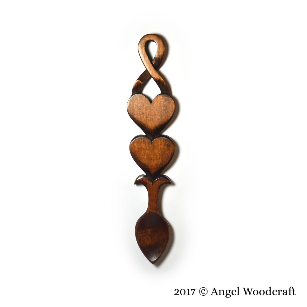 113 - Growing Love Entwined Welsh Love Spoon 3