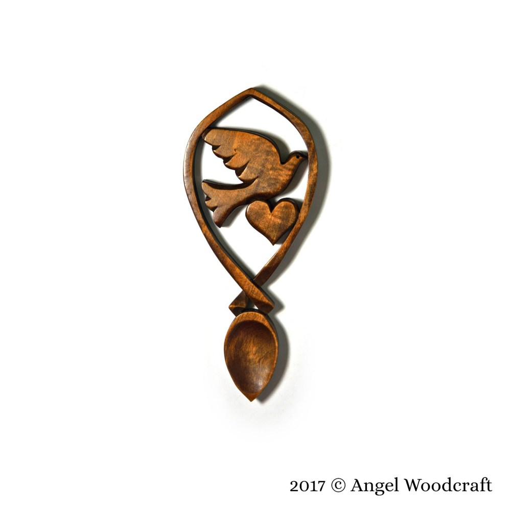 134 - Dove of Peace and Love Welsh Love Spoon 2