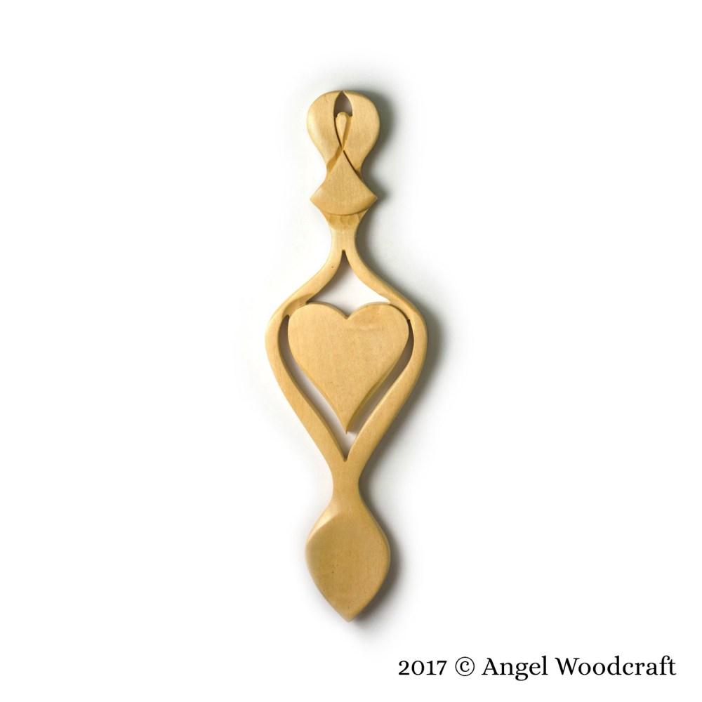 Guardian Angel Welsh Love Spoon - 136A 1
