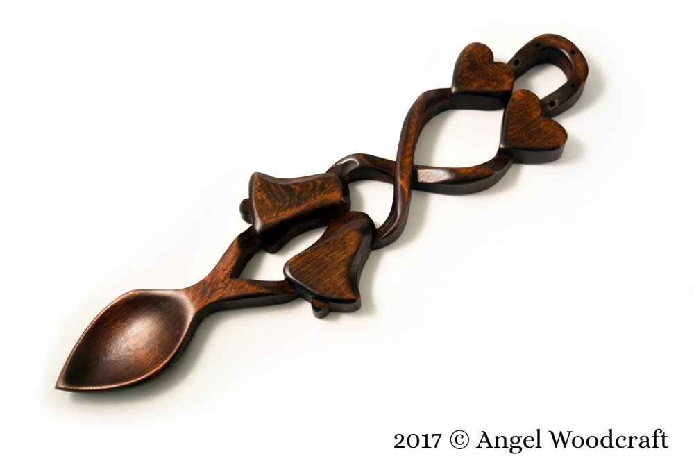 Wedding Blessing Welsh Love Spoon