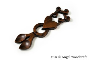 Bountiful Life Together Welsh Love Spoon