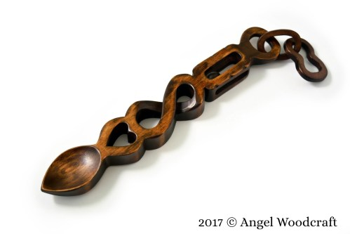 Love Held Safe to Infinity Welsh Love Spoon