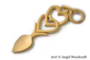 Connected Hearts Welsh Love Spoon