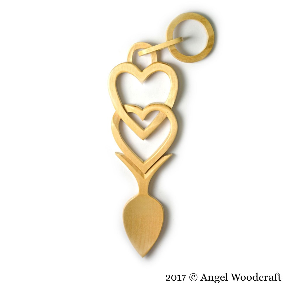 Connected Hearts Welsh Love Spoon - 49 1