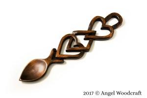 Two Hearts in Prosperity Welsh Love Spoon