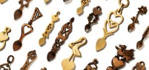 Variety of Welsh Love Spoon Designs by Angel Woodcraft