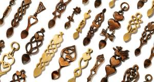 Angel Woodcraft Hand Carved Love Spoons