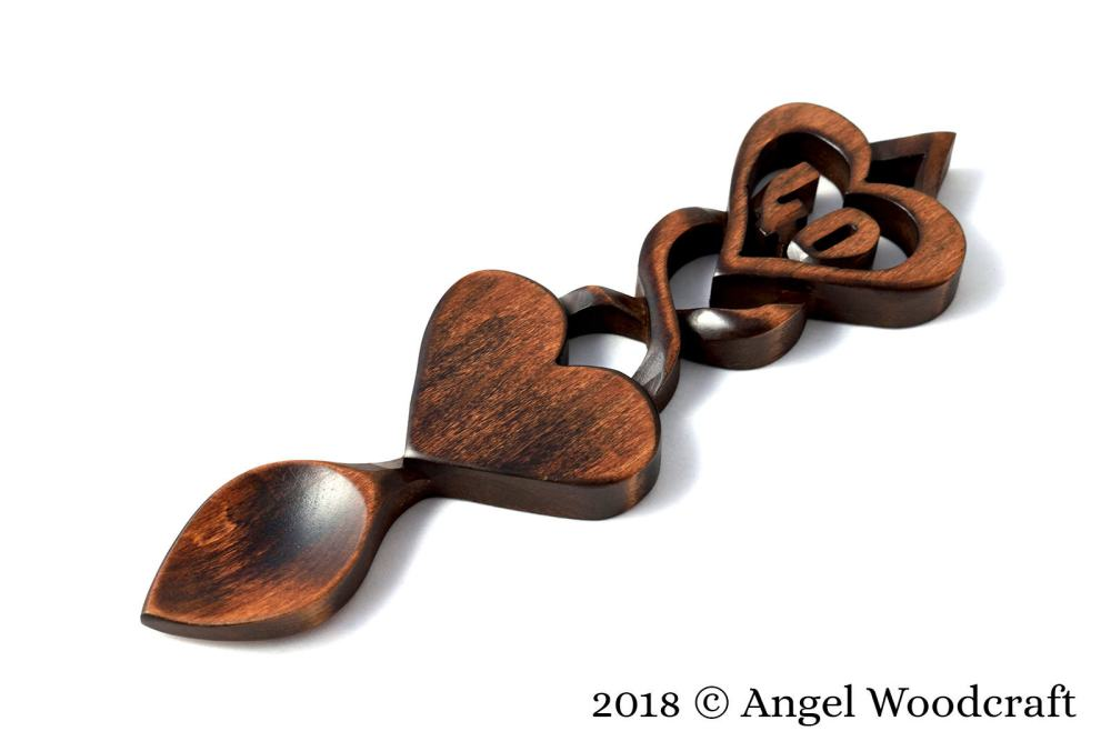 Commemoration Gift Welsh Love Spoon (Add Number of Your Choice) - W19 1