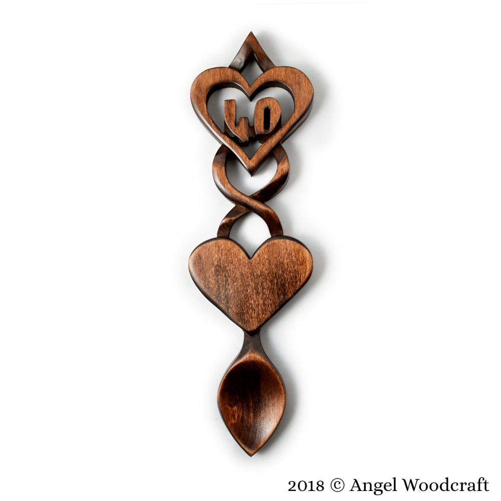 Commemoration Gift Welsh Love Spoon (Add Number of Your Choice) - W19 3