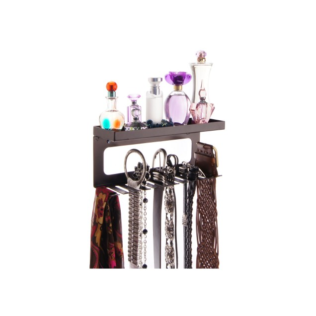 Belt Holder Organizer with Shelf - Arinn Rubbed Bronze