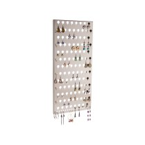 Slim Wall Mount Earring Holder - Michelle Satin Nickel Silver