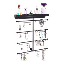 Wall Mount Jewelry Organizer - Carol Black