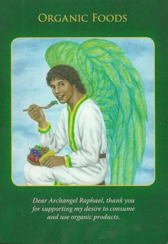 Image result for archangel raphael oracle cards organic food