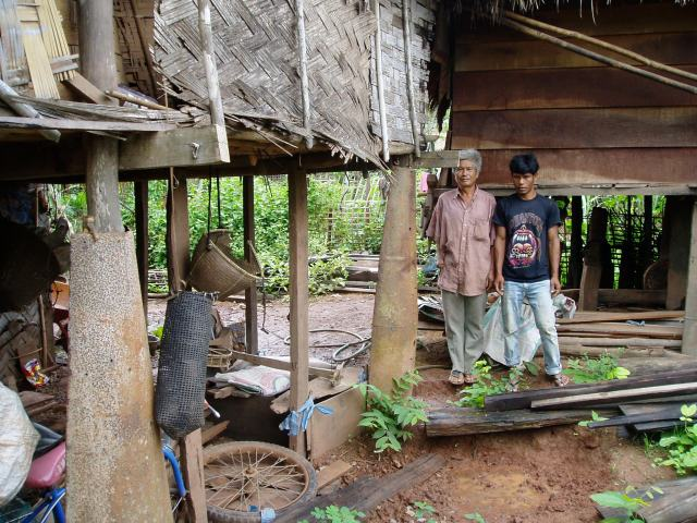 Laos was so heavily bombed during the Vietnam conflict that it is common in the rural villages to see bomb casings used as stilts for houses