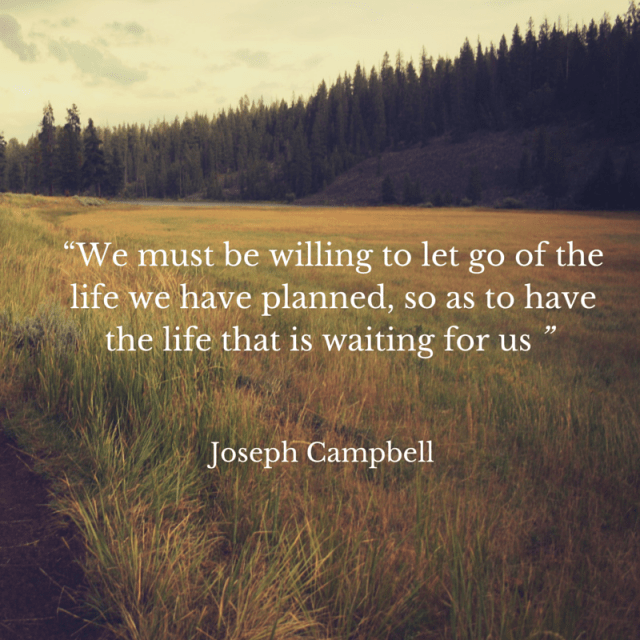 """We must be willing to let go of the"