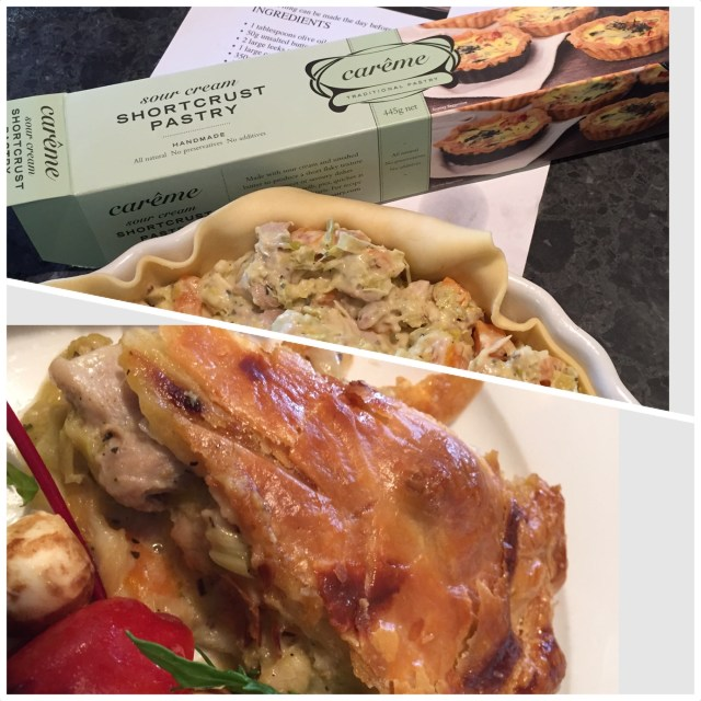 Chicken and Leek Pie made by me with Careme Pastry