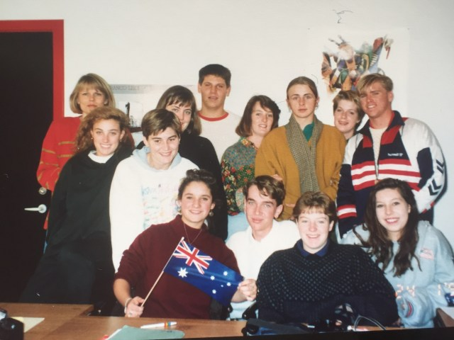 My Danish Class in Odense, 1992