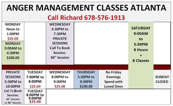 Anger Management Classes In Atlanta