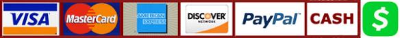 Visa MC AMEX DISCOVER PAYPAL CASH CASHAPP