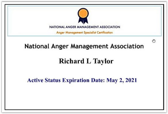 National Anger Management Association CAMS