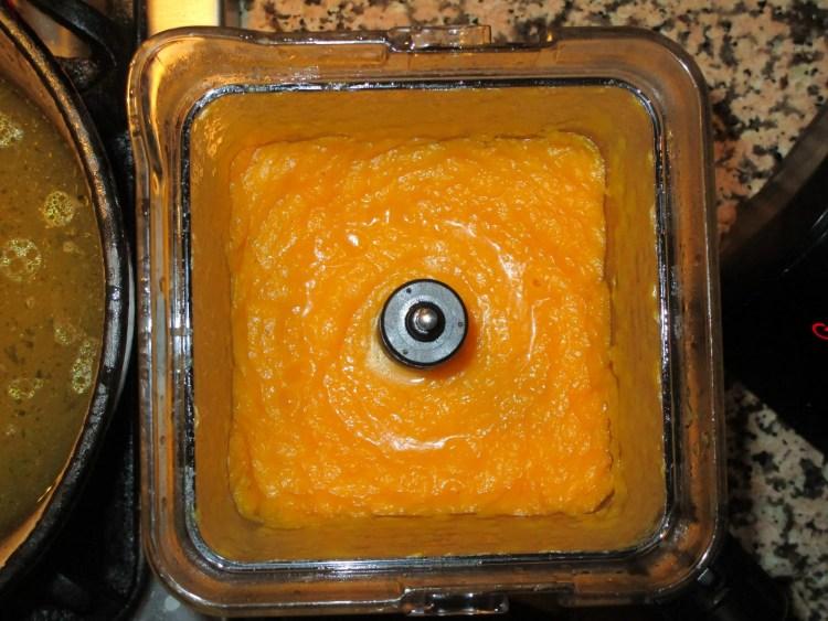 blended butternut in blender