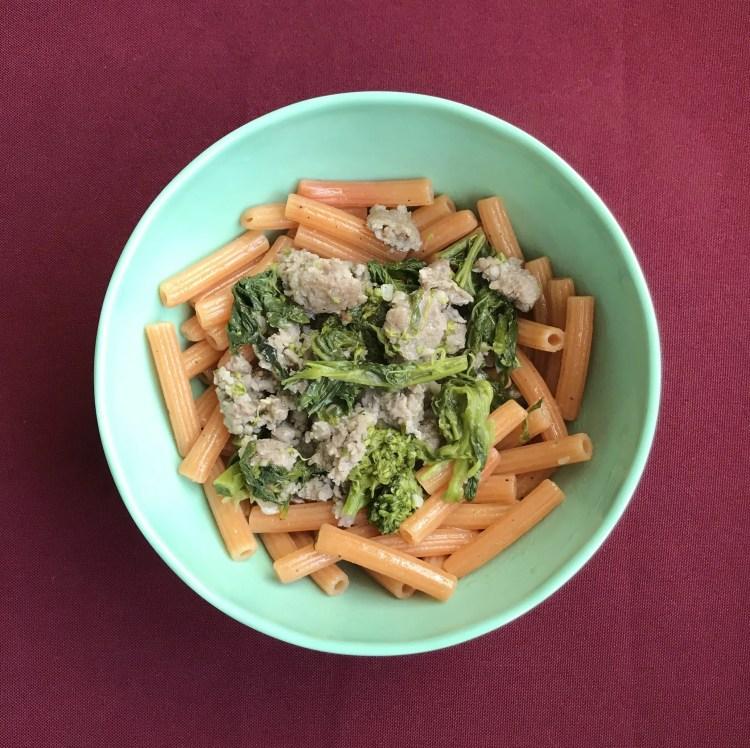 pasta with broccoli rabe sausage