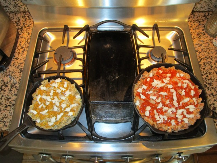 baked pasta pans ready for oven