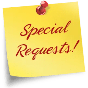 special request note