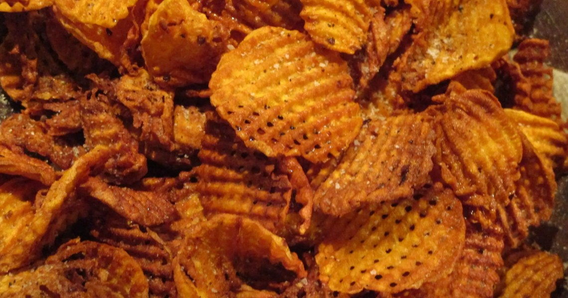 close up bowl finished waffle chips