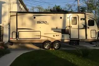 camper in driveway